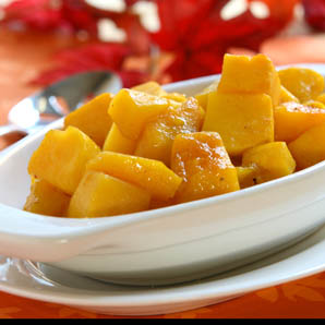 Butternut Squash with White Balsamic Vinegar, Ginger and Vanilla