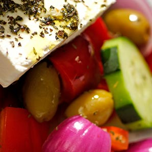 Layered Grilled Vegetables with Warm Goat Cheese