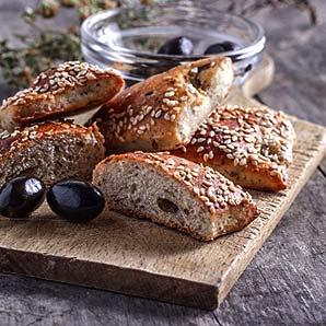 Mini scones aux olives noires