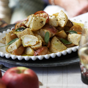 Roasted Apples and Celery Root with Sage