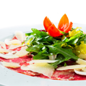 Roasted red pepper carpaccio salad