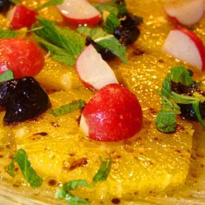 Salade orange et olives