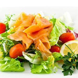 Marinated fish salad