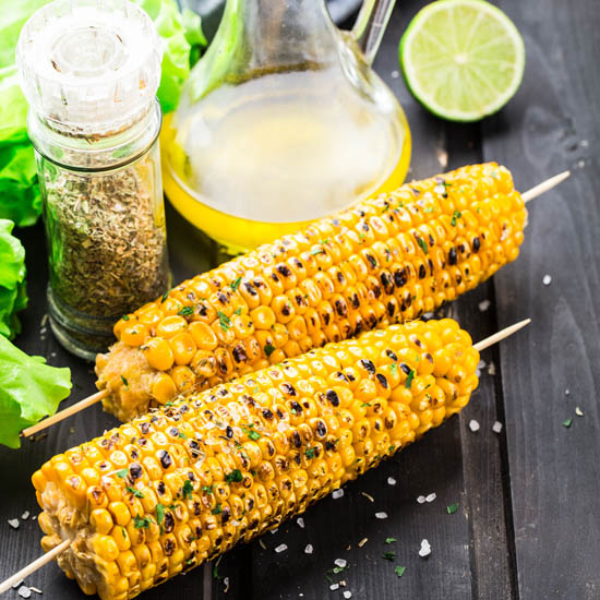 Extra virgin olive oil corncob