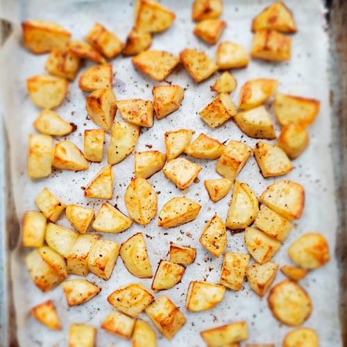 Easy Mustard Roasted Potatoes